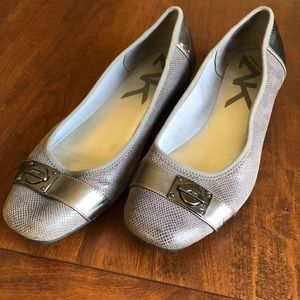 Flats- Anne Klein Gray and silver